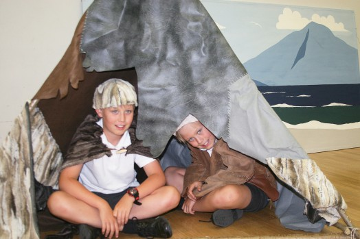 Role play in a Mesolithic tent shelter